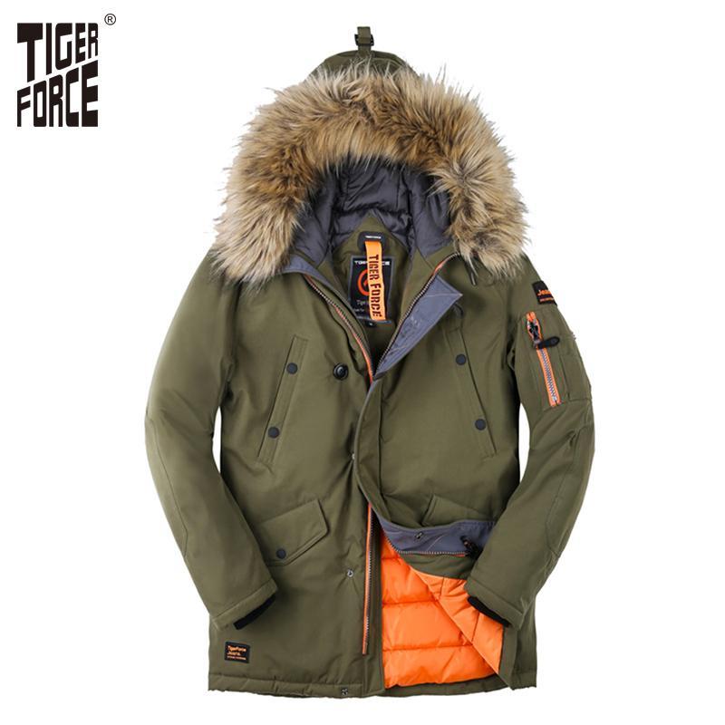 890c38cfe66 Chaqueta Compre Acolchado Hombres 2018 Abrigo Parka Tiger Force De aC7qaw0A