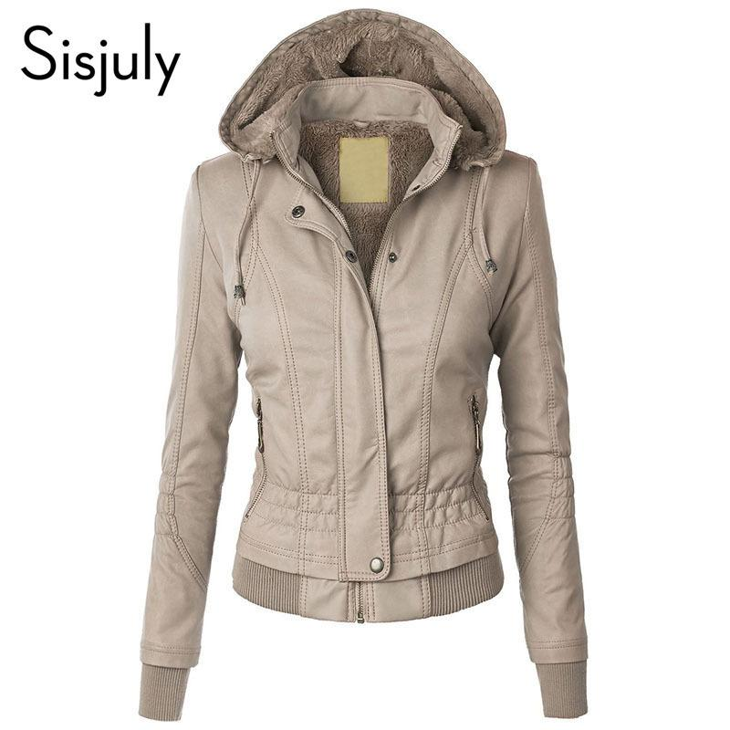 1447c1011e Sisjuly Jacket Coat Women 2018 Winter Autumn Slim Zipper Hooded Coat Female  Warm Casual Outerwear Solid 2xl Fall Jacket Coats S18101202 Biker Jackets  Coat ...