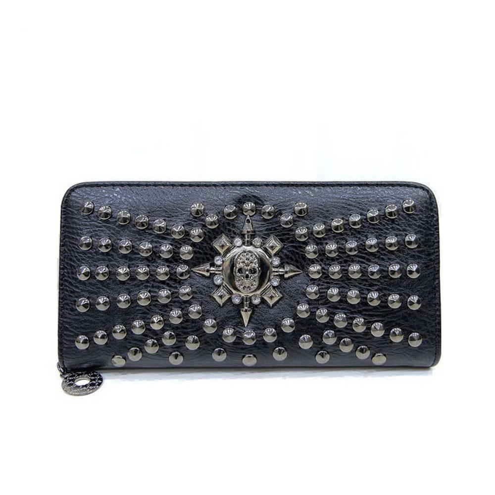 Wobag 2018 Fashion Rock Style Luxury Leather Women Handbag Casual Rivet Handbags Punk Design Female Elegant Purse Black Silver