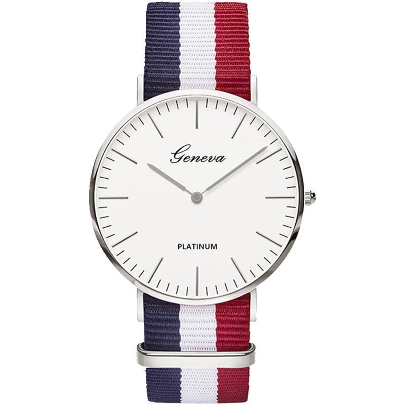 Children's Watches 2018 Fashion Unisex Platimum Nylon Fabric Watch Sport Thin Students Canvas Quartz Dress Wristwatches For Boy Girl Casual Relogio