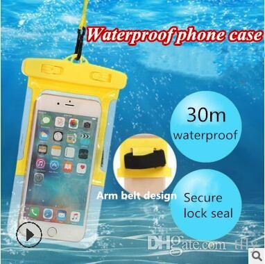 Good Waterproof Phone Bag Smartphone Protective Dry Pouch Bag Phone Protector Bag With Strap Arm Belt For Sports Swimming Diving Camera/video Bags
