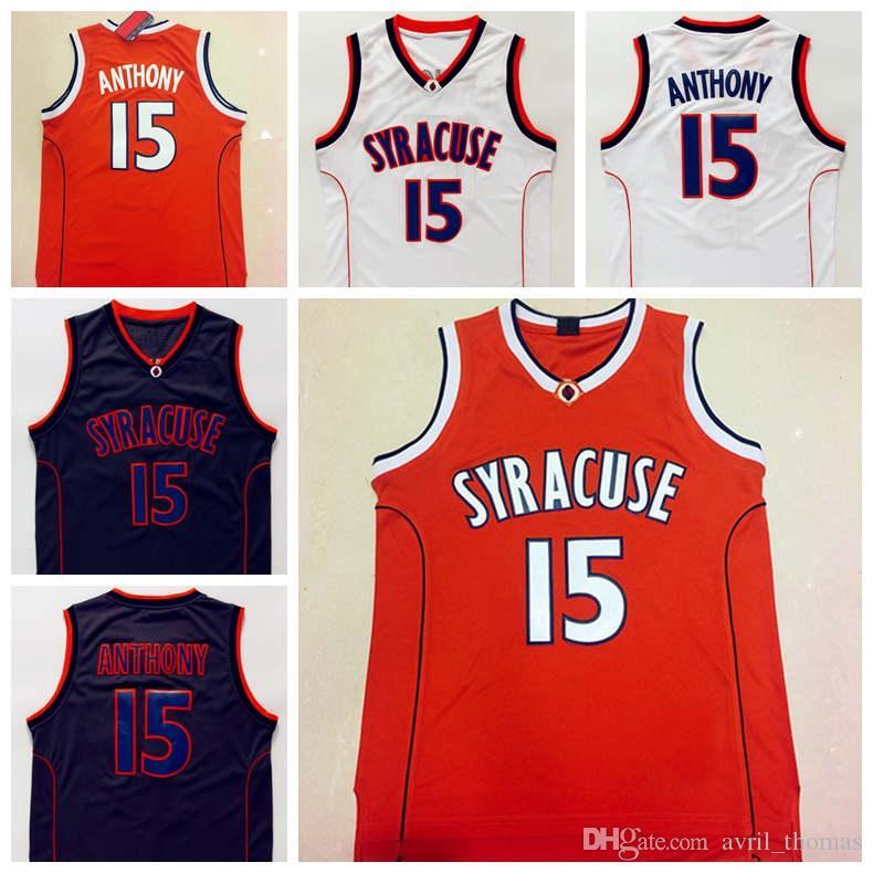 85091be46 ... promo code for 2018 carmelo anthony syracuse jersey syracuse 15 orange  white black college basketball jerseys ...