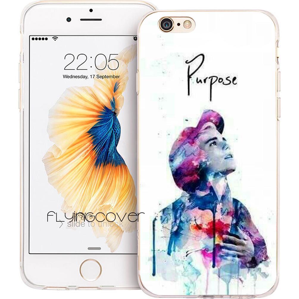 ebea6e3a480 Justin Bieber Purpose Phone Case For IPhone X 7 8 Plus 5S 5 SE 6 6S Plus 5C 4S  4 IPod Touch 6 5 Clear Soft TPU Silicone Cover.
