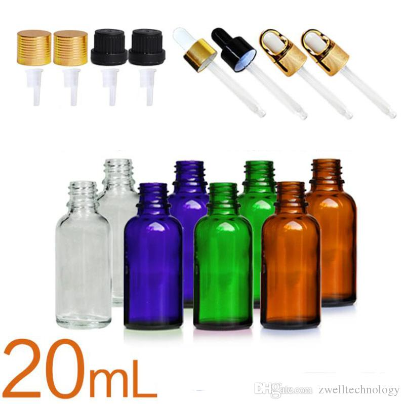 503f24cc1d00 New protection package 20 ml boston round glass bottles perfume Amber Glass  Essential Oil Spray Bottles