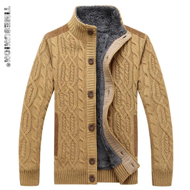 2018 Timesunion Men s Sweaters Winter Warm Thick Velvet Sweatercoat Single  Breasted Casual Cardigan Men Sweaters Pattern Knitwear 3xl From  Fenghuangmu cce16d8bd
