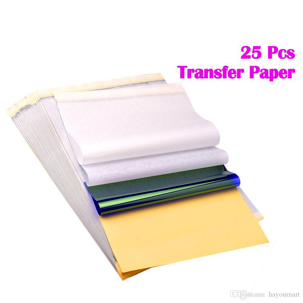 Tattoo Transfer Paper 25 Sheet Tattoo Thermal Stencil Transfer Paper A4 size for Freehand & Thermal Copying Machines