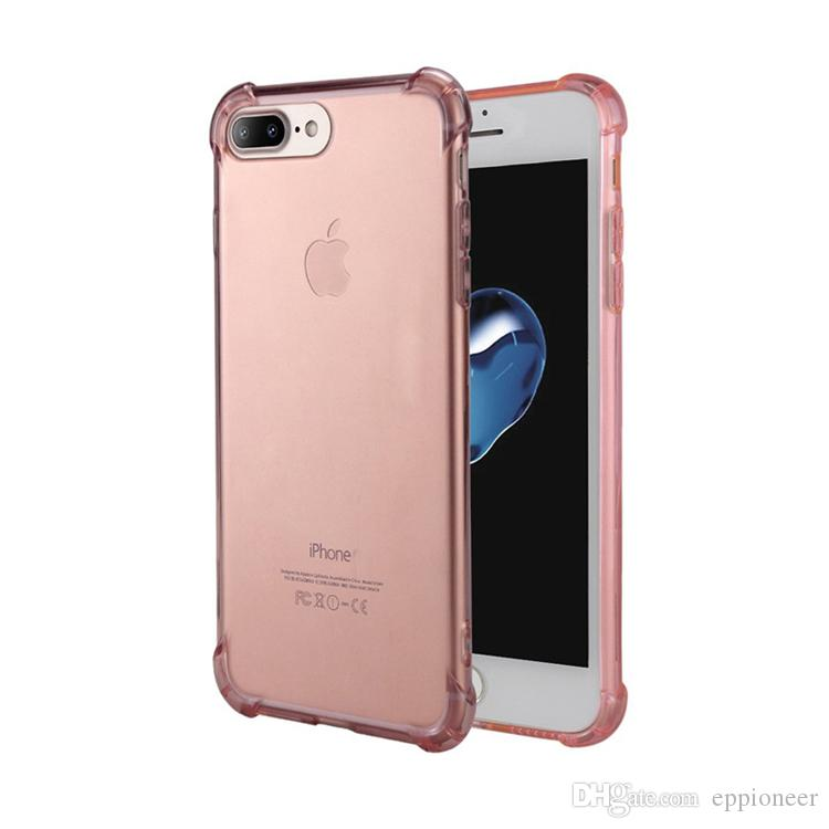 Yüksek Kalite Kılıfları 2019 YENI iphone 11 Için X XR XS MAX 8 Kılıf Crystal Clear Takviyeli Köşeleri TPU Tampon Yastık çizilmez Hibrid Sağlam