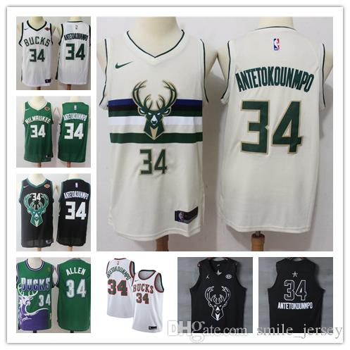 outlet store c8ec1 ece8d 2019 New Mens 34 Giannis Antetokounmpo Milwaukee Bucks Basketball Jerseys  100% Stitched Mesh Dense AU Bucks Antetokounmpo New Retro Jerseys