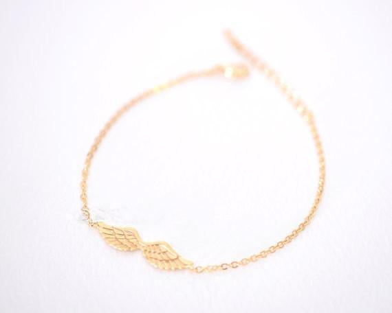 2018 Fashion bracelets for girls silver plated bracelets Angel Wings bracelet for women wholesale