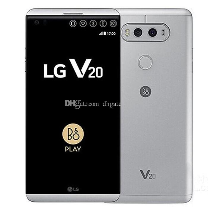 5.7Inch LG V20 H910 AT&T Qualcomm Snapdragon 820 GSM 4G LTE Android Dual Sim 4GB/64GB 16MP Unlocked Refurbished Cell Phones DHL Free