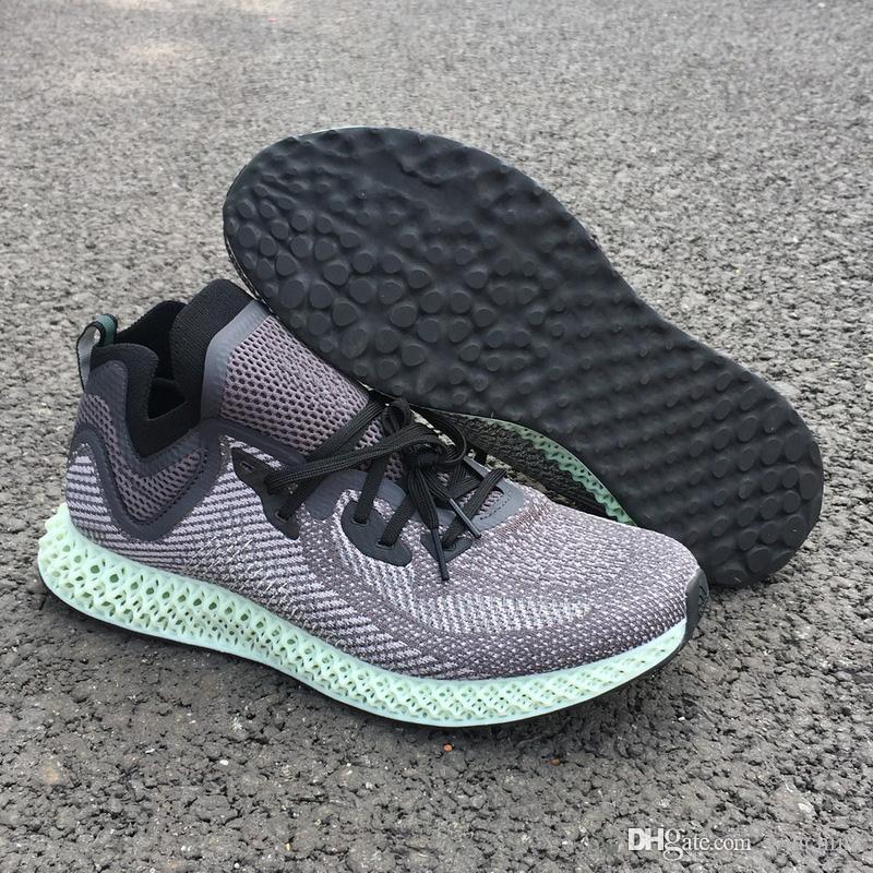 huge discount 37398 3464a Lo Nuevo Lanzamiento Futurecraft AlphaEdge 4D LTD Aero Ash Green Core Negro  Zapatillas Para Correr Hombre Mujeres De Alto Rendimiento Authentic  Sneakers ...