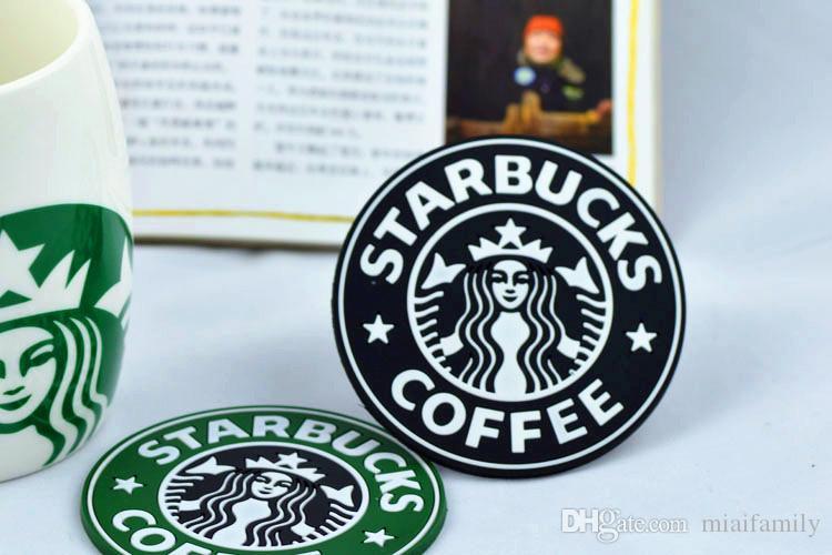 Para el 2017 nuevo Silicon Coasters Cup termo Cushion Holder Starbucks sea-maid café Coasters Cup Mat