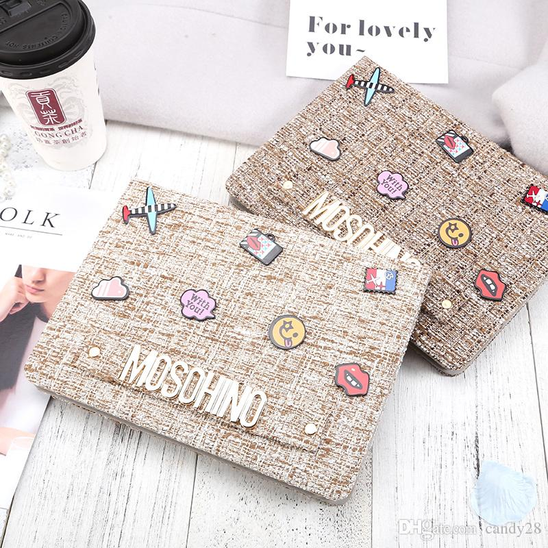 For Ipad Pro 10.5 Fashion Big-Brand Protection Case Cotton Fabric Letter Tablet PC Cover Case for IPad 2 3 4 5 6 Pro 9.7 Air1/2 Mini Mini4