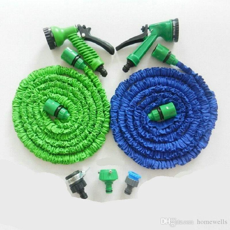 3X Expandable Magic Hose with 7in1 Spray Gun Nozzle 25FT/50FT/75FT/100FT Irrigation System Garden Hose Water Gun Pipe OPP Package 10PCS