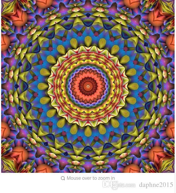2018 Mandala Diamond Painting Kits Full Drill Round Mosaic Wall Art ...
