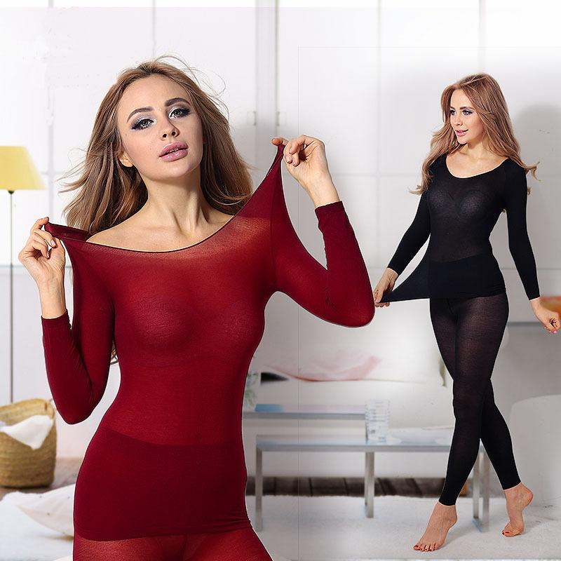 Seamless Winter 37 Degree Women Slimming Thermal Underwear Ultrathin Heat Long Super Elastic Thin Body Suit For Women