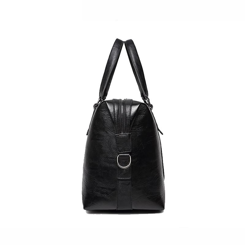 90a61e97d5c VIDENG POLO Brand Men Pu Leather Large Capacity Travel Bag Duffle Crossbody  Short Distance Messenger Bag Black Leisure Handbags Kids Rolling Suitcases  ...