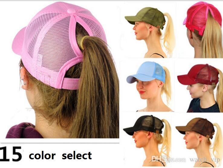 CC Glitter Ponytail Baseball Cap Women Messy Bun Snapback Summer ... 6ff5af8f01db