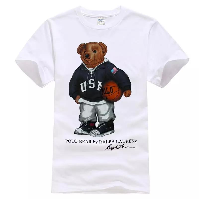76f1f15facc93 Vintage T-Shirt 90 s POLO Bear Basketball Sport Reprint Online with ...