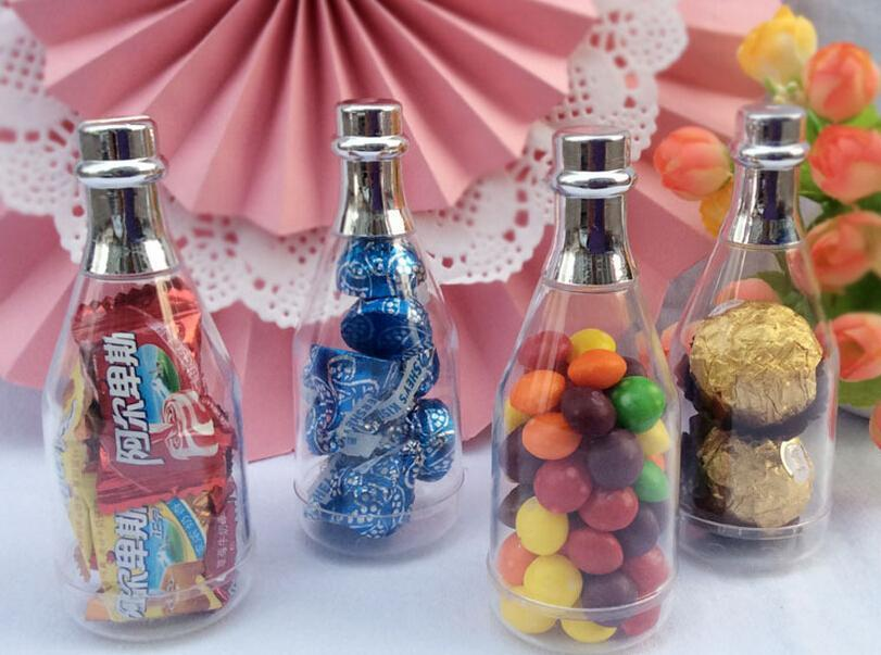 Champagne Bottle Candy Box Plastic Candy Jars And Bottles Wedding ...