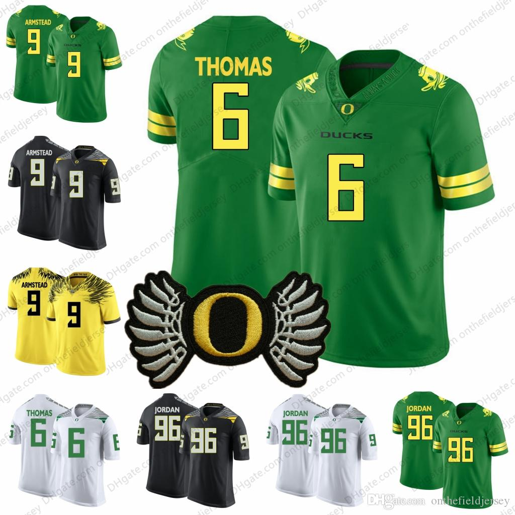 online store e39ee 918ac Oregon Ducks #6 DeAnthony Thomas 9 Arik Armstead 44 DeForest Buckner 96  Dion Jorda n White Yellow Black Green NCAA College Football Jersey