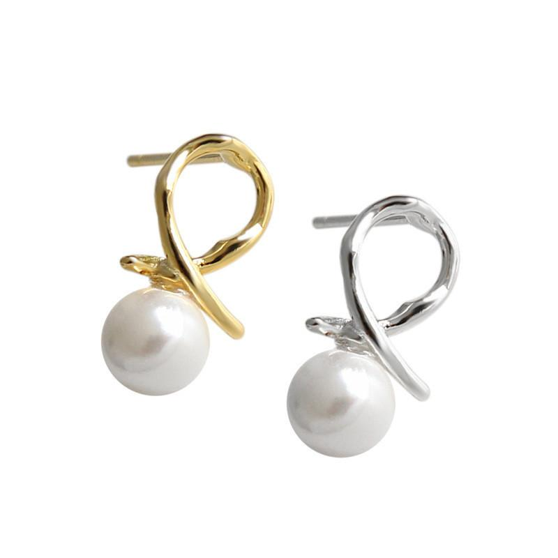 d8871519b 2019 Jsmpfy 100% 925 Sterling Silver Bow Stud Earrings With Pearl Jewelry  Brincos For Women Gifts From Fengzh, $35.96   DHgate.Com