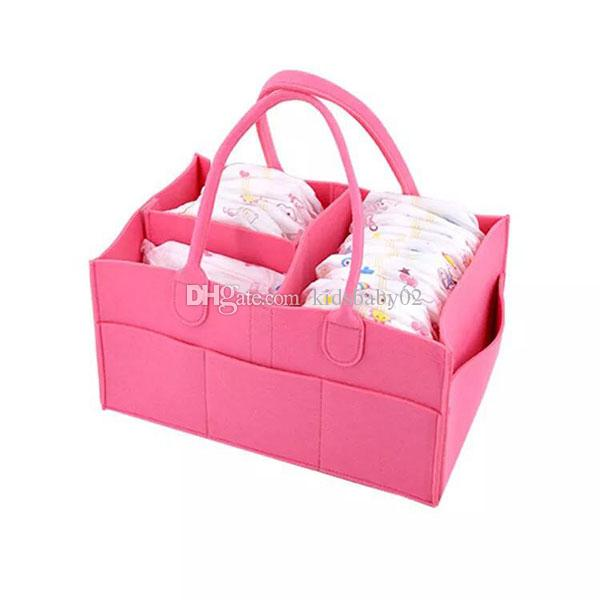 2018 Baby Diaper Caddy Organizer Pink Blue Red Mint Portable Tote ...