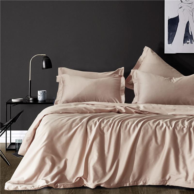 Mandel Einfarbig 60 Lang Staple Cotton 3pcs Bettwasche Set Usa Queen King Size Bettwasche Bett Set Bettbezug Kissenbezuge Tagesdecke