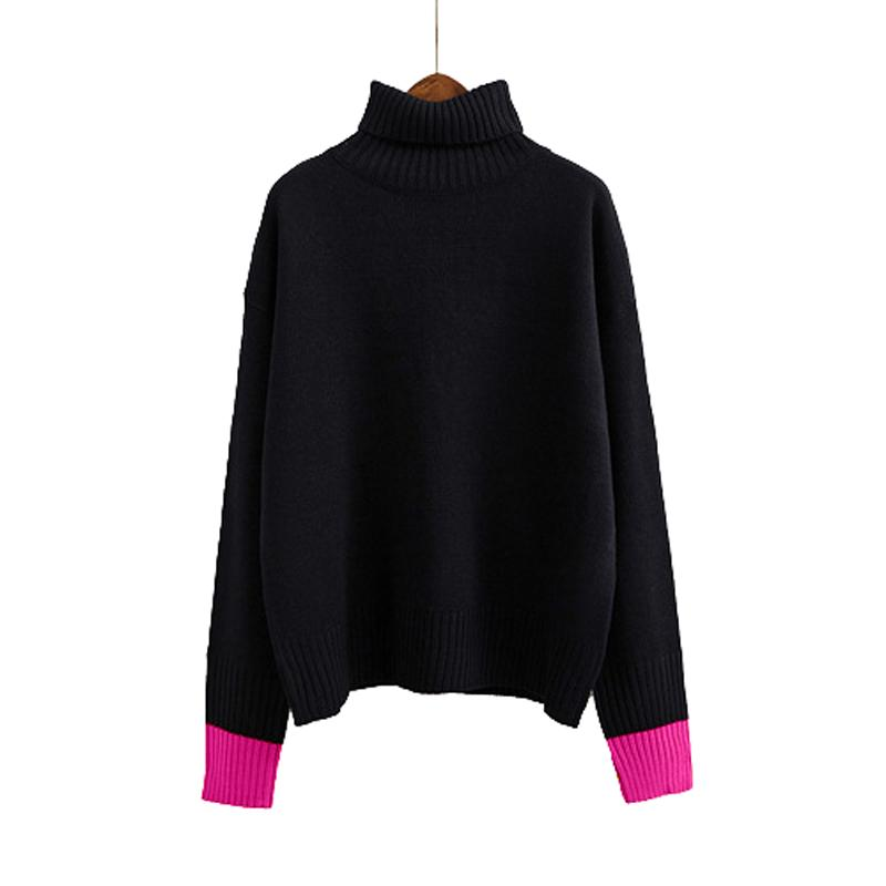 c7ba95cbfa3513 Autumn And Winter Vintage Two Colors of Cuff Women Sweater Long ...