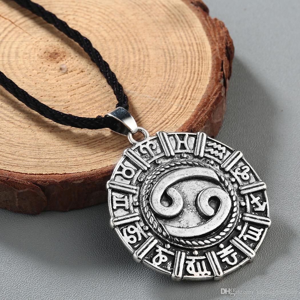 Karkat Zodiac Cancer Constellation Necklace Birthday Jewelry Astrology Zodiac Horoscope Necklace Star Sign Viking Runes