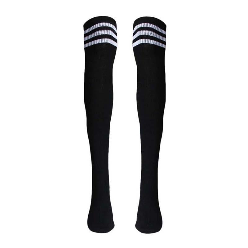 4cae0c628a6 Thigh High Socks Over Knee Girls Football Socks Black Socks Cheap Socks 1  Pair Thigh High Socks Over Knee Girls Online with  30.48 Piece on  Breadfruiter s ...