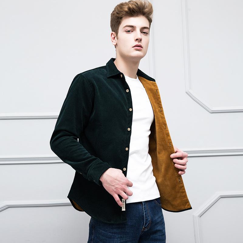 f387c694c47 2019 Winter Warm Shirts Plus Size Men Long Sleeve Autumn Winter Men Coat  Flannel Thick Dress Shirts Fashion Quality Fleece Shirt From Shengui