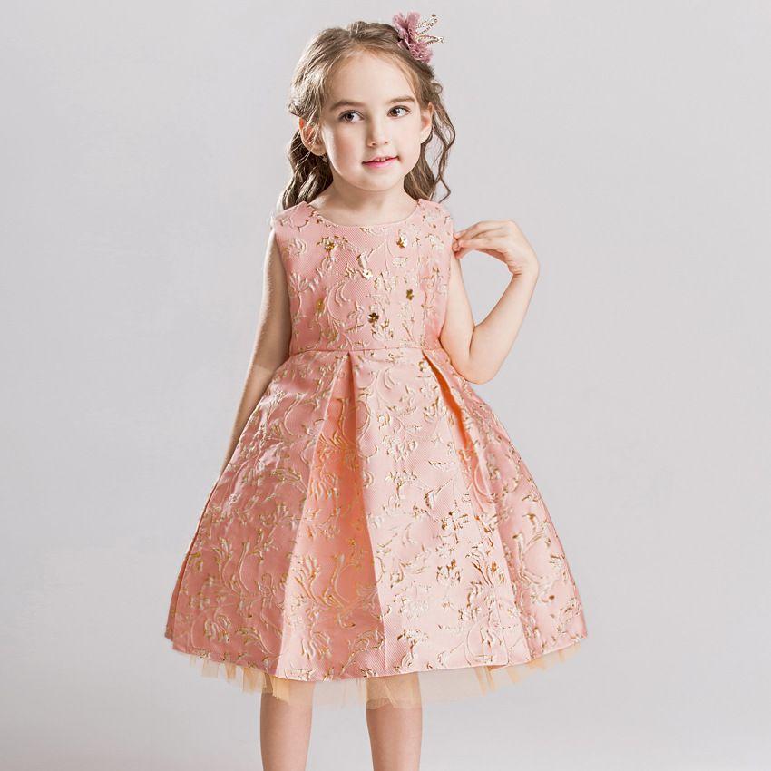ed44ee2f18f New Bling Sleevelss Flower Girl Dresses Pink Princess Ball Grown ...