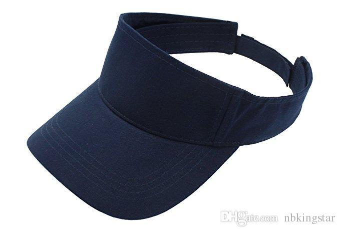 big sale 5102b dd3cd 2019 Solid Summer Cotton Sports Visor Empty Top Adjustable Sun Cap Beach Golf  Tennis Hat For Men And Women From Nbkingstar,  26.38   DHgate.Com