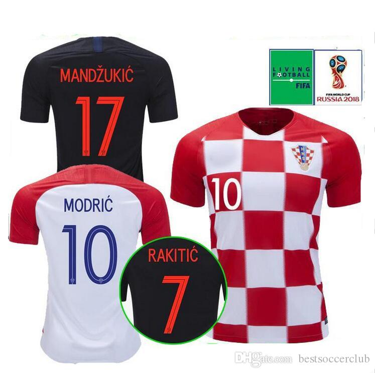 3ea43cc9b 2018 Soccer Jersey World Cup Hrvatska MODRIC MANDZUKIC RAKITIC PERISIC  MBAPPE GRIEZMANN National Team Football Shirt Thailand MODRIC World Cup  RAKITIC World ...
