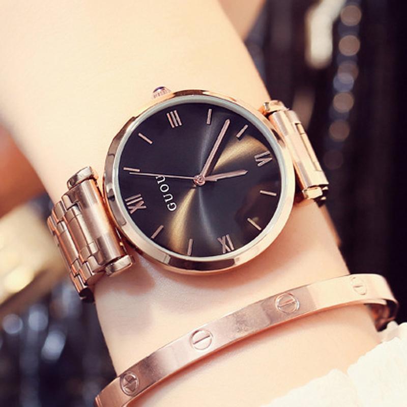 b08cbad59489 GUOU 2018 Women S Watches Bracelet Ladies Watch Rose Gold Women Watches For Women  Top Brand Luxury Bayan Kol Saati Y1890304 Online Wrist Watches Wrist Watch  ...