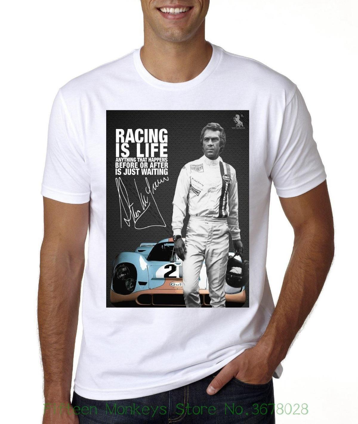 c213ba9b4 Fashion T Shirts Slim Fit O Neck New Steve Mcqueen Le Mans T Shirt Sizes  From Med 3xl Mens Dress Shirt Patriotic T Shirts From Lijian064, $12.08|  DHgate.Com