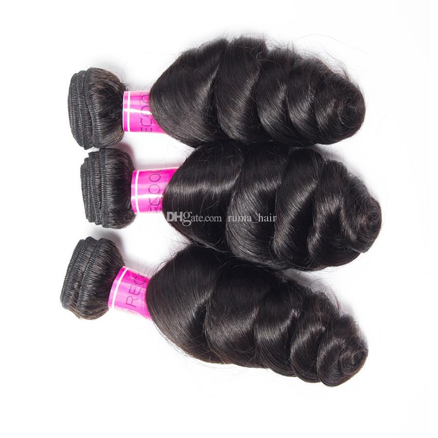 Дешевые волосы бразильские человеческие волосы ткать свободные волны наращивание волос с 4*4 кружева топ закрытие свободные волнистые переплетения с кружевом closue