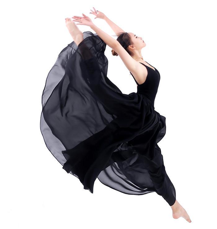 5845c9f738411 Acheter Ballet Adulte Longue Jupe Femmes Filles Mousseline De Soie  Classique Danse Moderne Pratique Jupe Costumes De Danse Contemporaine  Élégante De  43.84 ...