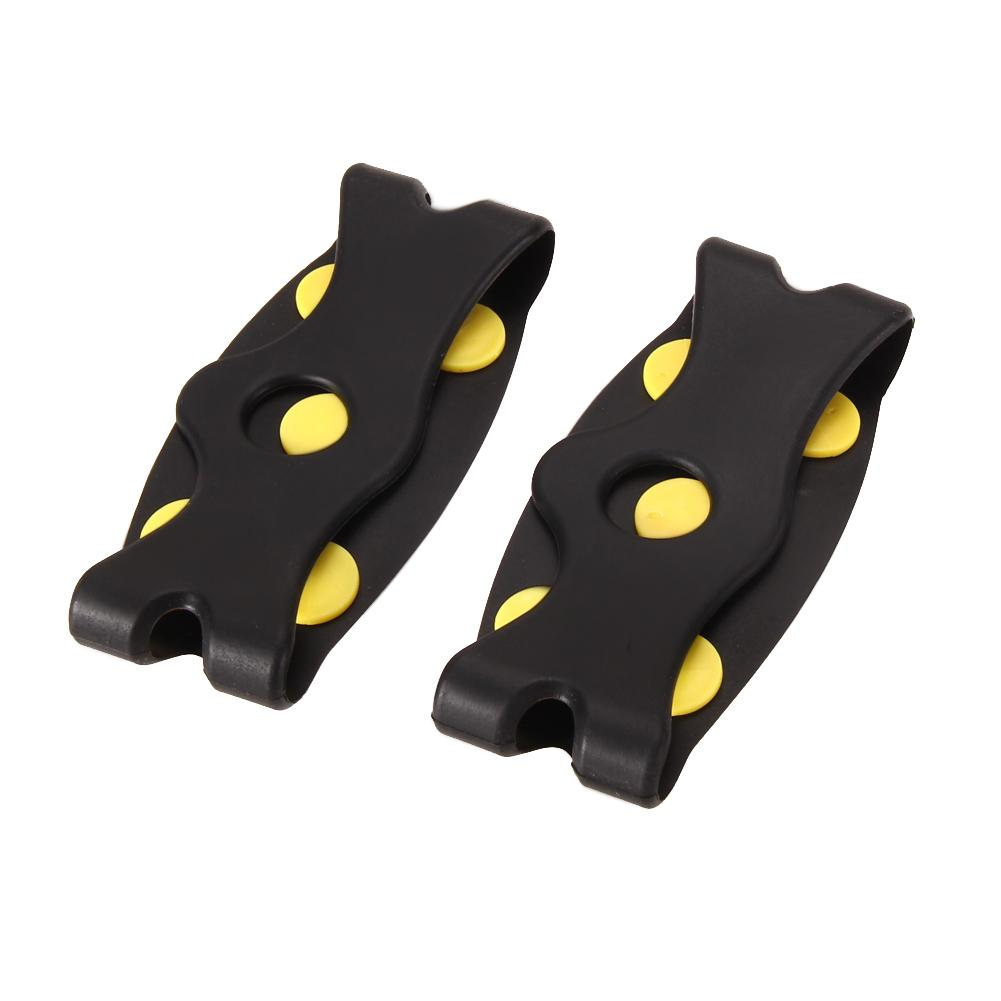 5 Studs Ice Spikes for Shoes Ice Floes Cleats Crampons Winter Outdoor Snow Climbing Antislip Grips for Shoes Covers Crampons