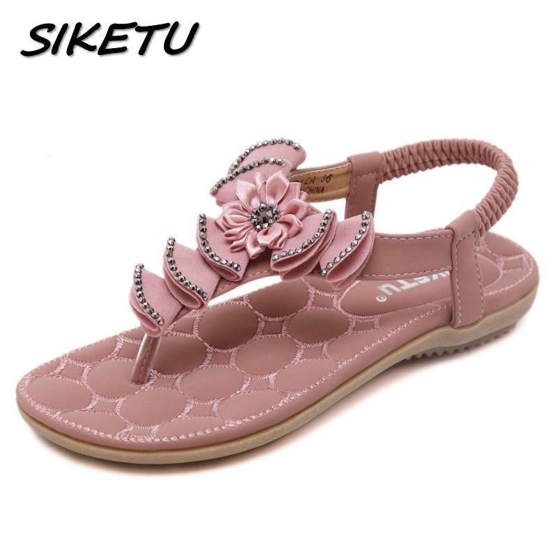 20a9bd02f1aed SIKETU New Summer Bohemia Sandals Shoes Woman Fashion Rhinestone Flower Flip  Flop Beach Soft Flat Sandals Size 35 41 Womens Sandals Sandals For Men From  ...