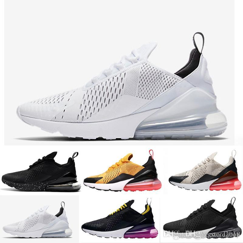 huge selection of 33967 30d6d Acheter 2018 Nouveau 270 Hommes Femmes Chaussures De Course Triple Rose  Blanc 270s Sneakers Flair Trainers Marque Designer Sport Air Chaussures  Zapatos De ...