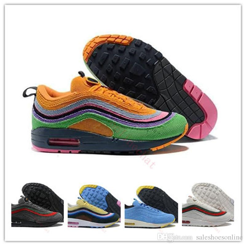 New Men Womens 97 Designer Sneakers Original Sean Wotherspoon 1 97 Vf Sw  Hybrid Women Running Shoes Canvas Mens Trainers Eu36 46 Walking Shoes Trail  Running ... 58d9465ca