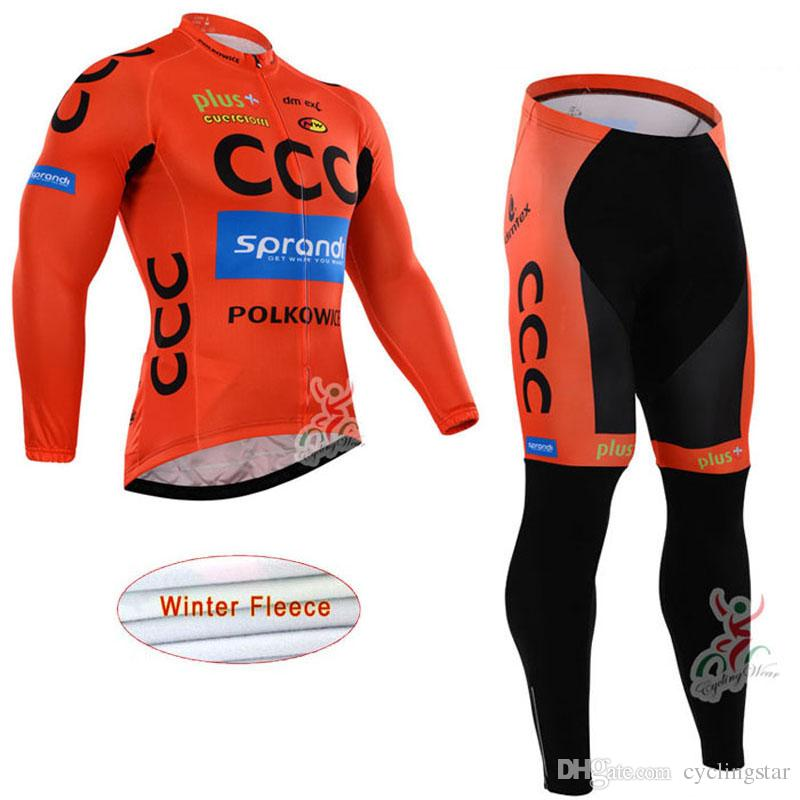 New CCC Winter Thermal fleece cycling jersey mtb bike clothes 3D gel pad bib pants suit men bicycle clothing bicicleta ropa ciclismo A1102