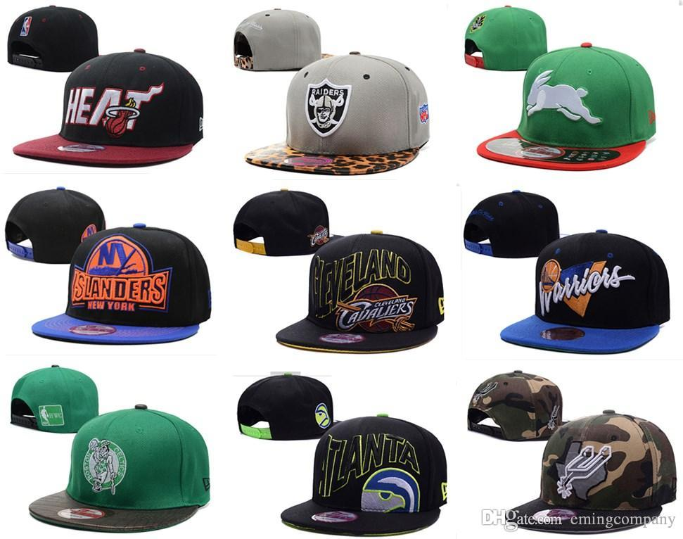 bafbeb9145627f Designer Basketball Football Hockey Team Snapback Sun Cap Flat Brimmed Hats  Supply For Mens Womens Hip Hop Adjustable Caps Shipping By DHL Hat  Embroidery ...