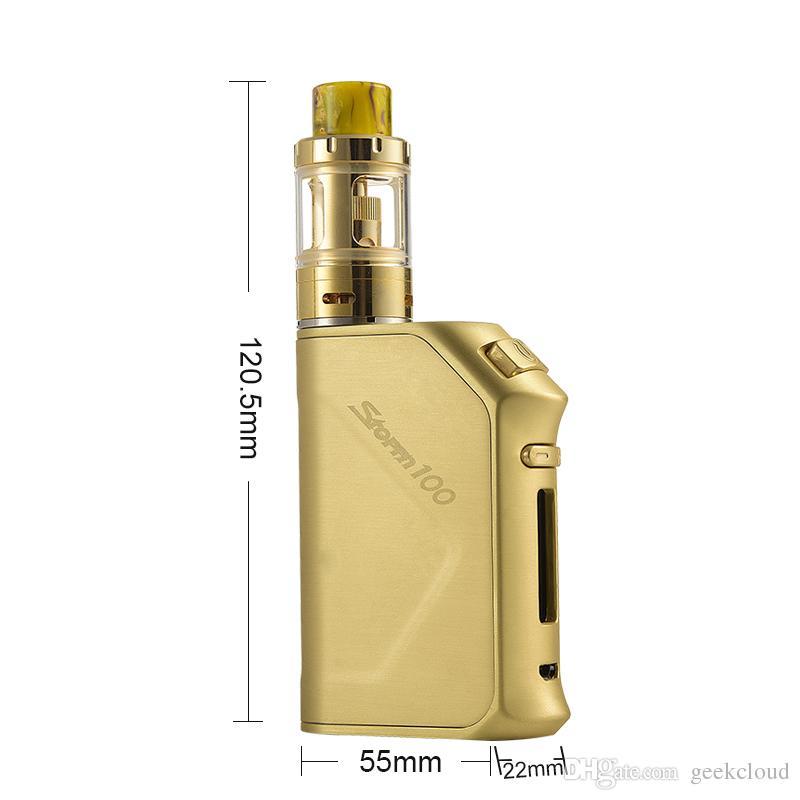 Паровой шторм 100 Вт Storm100 электронные сигареты Vape Mod Kit 3200 мАч TC батареи 2 мл 0.3 ohm Vesta Sub Ohm бак атомайзер стартовые комплекты