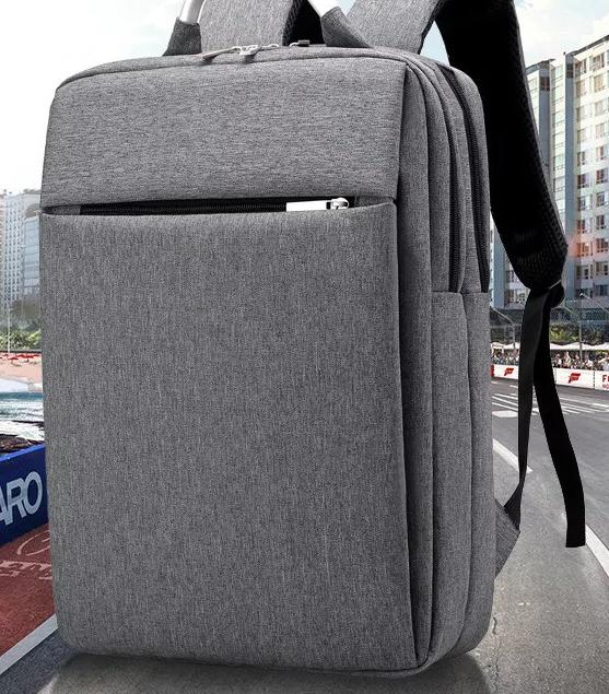 d357244a4f2a Male Business Canvas Decent Backpacks Fashionable Leisure Style Gray Both  Sides Packets Handbags High Quality Travelling Dacron Knapsacks Mens  Backpacks ...