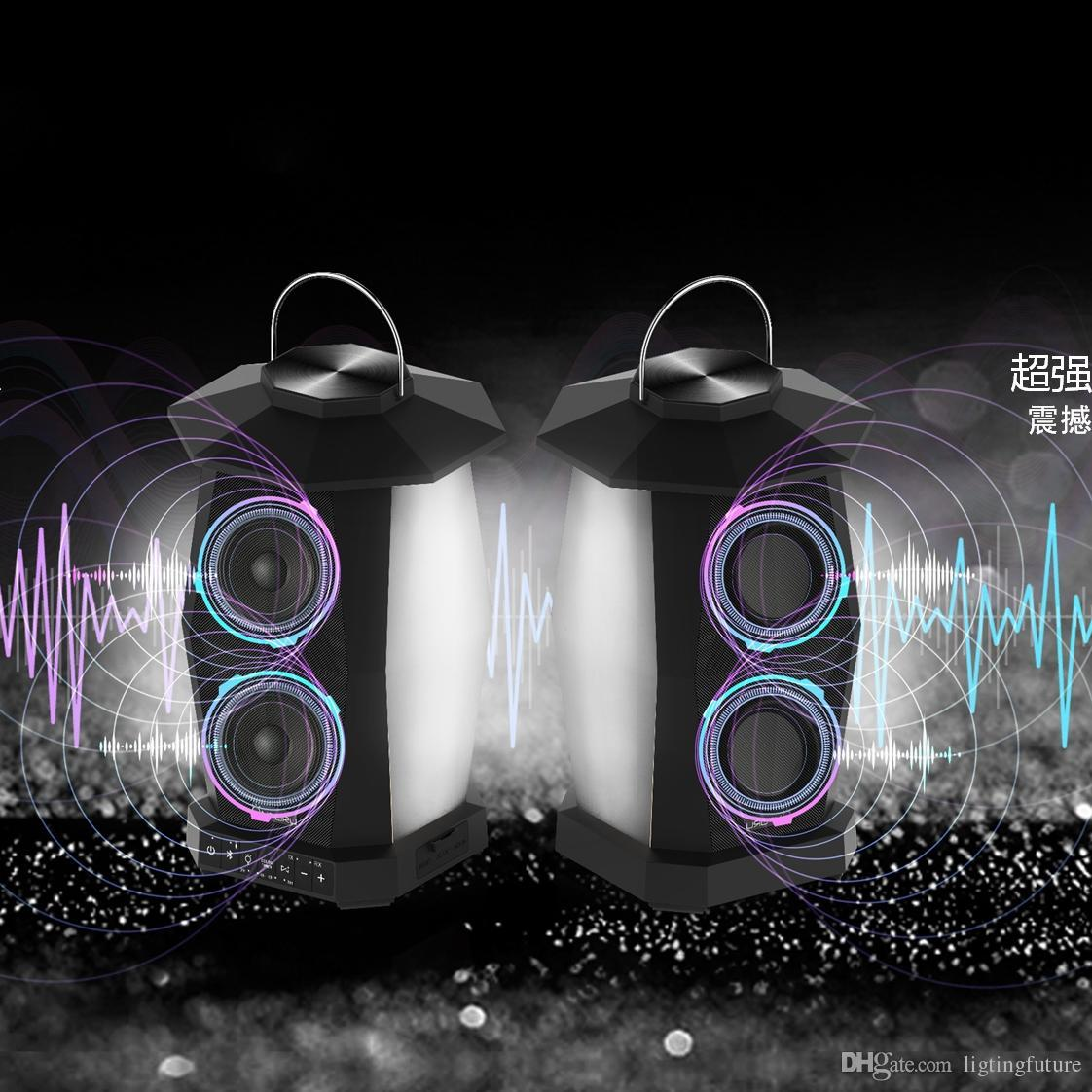 Großhandel Garten Led Licht Lautsprecher Outdoor Bluetooth