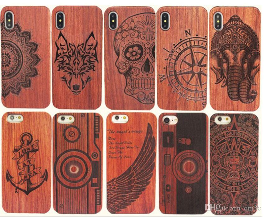 268e448eda1 Carcasas Para Celular Estuche De Madera Genuino Para Iphone XS Max XR 6 7 8  Plus Tapa Dura Que Talla La Carcasa Del Teléfono De Madera Para Iphone Funda  De ...