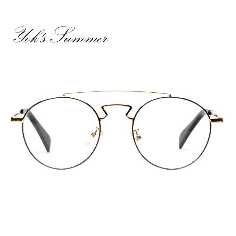 56286b9b53 Yok s Retro Round Glasses Frame Female Male Myopia Fashion Eyeglasses  degree glasses Frame Designer Brand Eye Glasses WN101